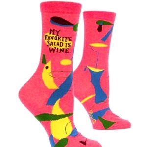 Blue Q My Favorite Salad is Wine 🍇 Socks